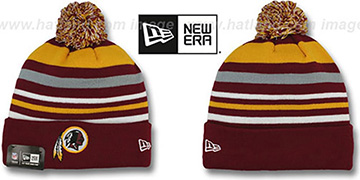 Redskins 'STRIPEOUT' Knit Beanie Hat by New Era
