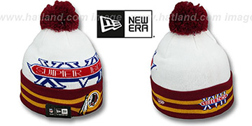 Redskins SUPER BOWL XVII White Knit Beanie Hat by New Era
