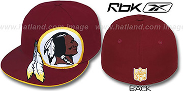 Redskins 'SUPERSIZE' Burgundy Fitted Hat by Reebok
