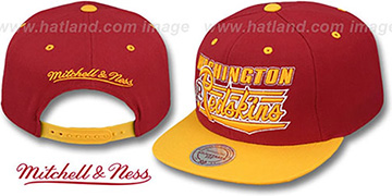 Redskins 'TAILSWEEP SNAPBACK' Burgundy-Gold Hat by Mitchell and Ness