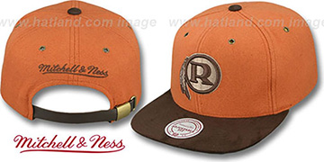Redskins 'TC-BROWN SUEDE STRAPBACK' Hat Mitchell & Ness