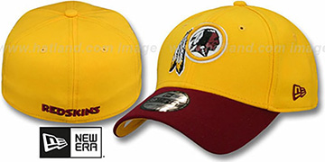 Redskins 'TD CLASSIC FLEX' Gold-Burgundy Hat by New Era