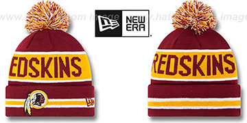 Redskins 'THE-COACH' Burgundy Knit Beanie Hat by New Era