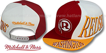Redskins 'THE SKEW SNAPBACK' Hat by Mitchell and Ness