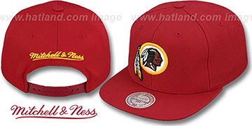 Redskins 'THROWBACK-BASIC SNAPBACK' Burgundy Hat by Mitchell and Ness