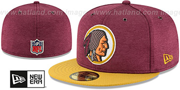 Redskins 'THROWBACK HOME ONFIELD STADIUM' Maroon-Gold Fitted Hat by New Era