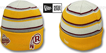 Redskins THROWBACK 'WINTER TRADITION' Knit Beanie Hat by New Era
