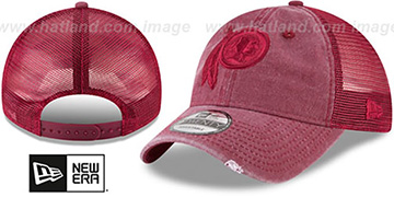 Redskins 'TONAL-WASHED TRUCKER SNAPBACK' Burgundy Hat by New Era