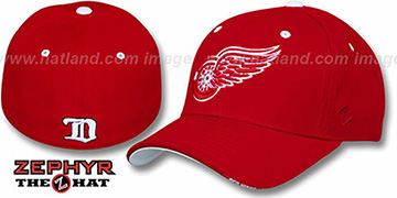 Redwings 'FACE-OFF' Red Fitted Hat by Zephyr
