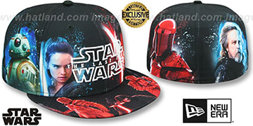 The Last Jedi 'ALL-OVER GOOD VS EVIL' Fitted Hat by New Era