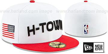 Rockets 19-20 CITY-SERIES White-Red Fitted Hat by New Era