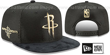 Rockets '2017 NBA ONCOURT SNAPBACK' Black-Gold Hat by New Era