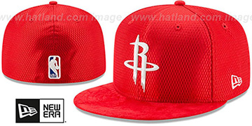 Rockets 2017 ONCOURT DRAFT Red Fitted Hat by New Era