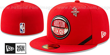 Rockets 2019 NBA DRAFT Red Fitted Hat by New Era
