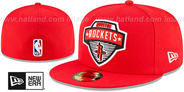 Rockets '2020 NBA TIP OFF' Red Fitted Hat by New Era