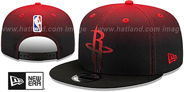Rockets BACK HALF FADE SNAPBACK Hat by New Era