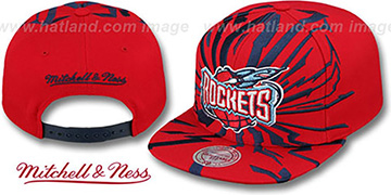 Rockets 'EARTHQUAKE SNAPBACK' Red Hat by Mitchell and Ness