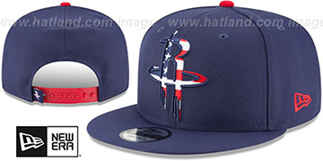 Rockets 'FLAG FILL INSIDER SNAPBACK' Navy Hat by New Era