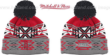 Rockets GEOTECH Knit Beanie by Mitchell and Ness