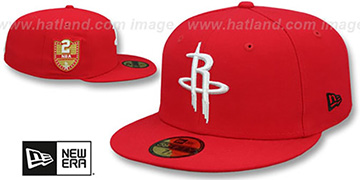Rockets 'GOLDEN-HIT' Red Fitted Hat by New Era