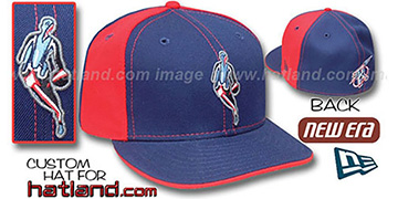 Rockets INSIDER PINWHEEL Navy-Red Fitted Hat by New Era