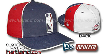 Rockets 'LOGOMAN-2' Navy-Red-White Fitted Hat by New Era