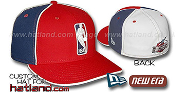 Rockets 'LOGOMAN-2' Red-Navy-White Fitted Hat by New Era