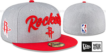 Rockets ROPE STITCH DRAFT Grey-Red Fitted Hat by New Era