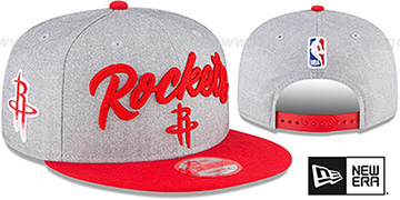 Rockets ROPE STITCH DRAFT SNAPBACK Grey-Red Hat by New Era