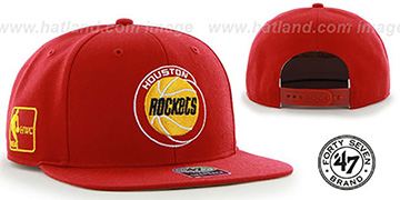Rockets 'SURE-SHOT SNAPBACK' Red Hat by Twins 47 Brand