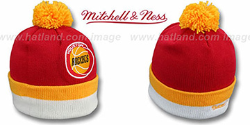 Rockets 'XL-LOGO BEANIE' Red by Mitchell and Ness