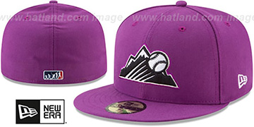 Rockies 2017 MLB LITTLE-LEAGUE Purple Fitted Hat by New Era