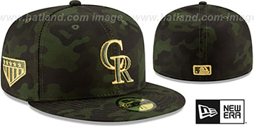 Rockies 2019 ARMED FORCES 'STARS N STRIPES' Hat by New Era