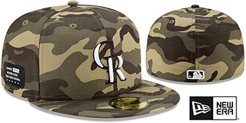 Rockies 2021 ARMED FORCES 'STARS N STRIPES' Hat by New Era