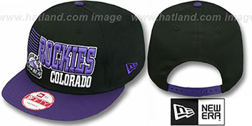 Rockies '2T BORDERLINE SNAPBACK' Black-Purple Hat by New Era