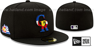 Rockies DASHMARK BP Black Fitted Hat by New Era
