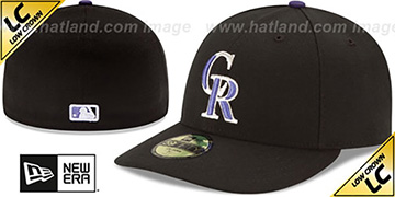 Rockies LOW-CROWN GAME Fitted Hat by New Era