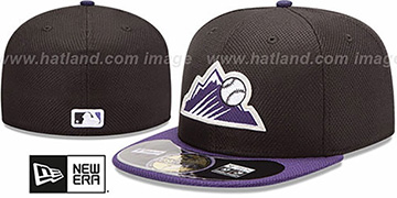 Rockies 'MLB DIAMOND ERA' 59FIFTY Black-Purple BP Hat by New Era