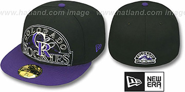 Rockies NEW MIXIN Black-Purple Fitted Hat by New Era