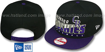 Rockies 'SLICE-N-DICE SNAPBACK' Black-Purple Hat by New Era