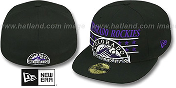 Rockies STAR STUDDED Black Fitted Hat by New Era
