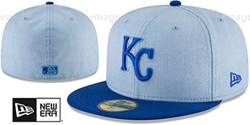 Royals 2018 FATHERS DAY Sky-Royal Fitted Hat by New Era