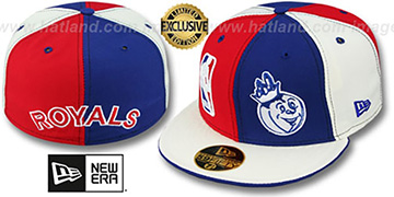 Royals HW DOUBLE WHAMMY Red-Royal-White Fitted Hat