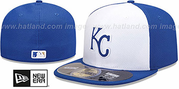 Royals 'MLB DIAMOND ERA' 59FIFTY White-Royal BP Hat by New Era