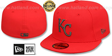 Royals MLB TEAM-BASIC Fire Red-Charcoal Fitted Hat by New Era