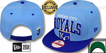 Royals 'SUPER-LOGO ARCH SNAPBACK' Sky-Royal Hat by New Era