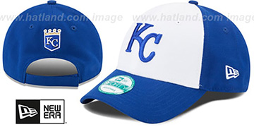 Royals 'THE-LEAGUE STRAPBACK' White-Royal Hat by New Era