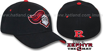 Rutgers 'DHS' Fitted Hat by Zephyr - black
