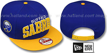Sabres CHENILLE-ARCH SNAPBACK Royal-Gold Hat by New Era