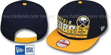 Sabres 'SLICE-N-DICE SNAPBACK' Navy-Gold Hat by New Era